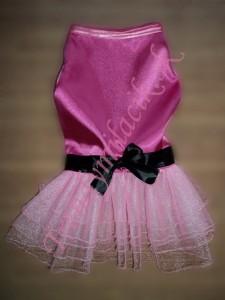 31805c33377c Luxusné šaty GLAMOUR PINK - oblečenie a móda pre psov - TrendyMiláčik